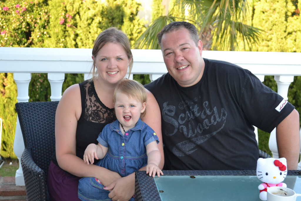 Myself, Mark & our daughter Sophie!