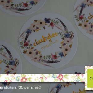 Round  – White Matt Stickers