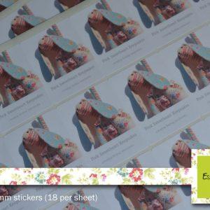 Rectangle  – White Matt Stickers