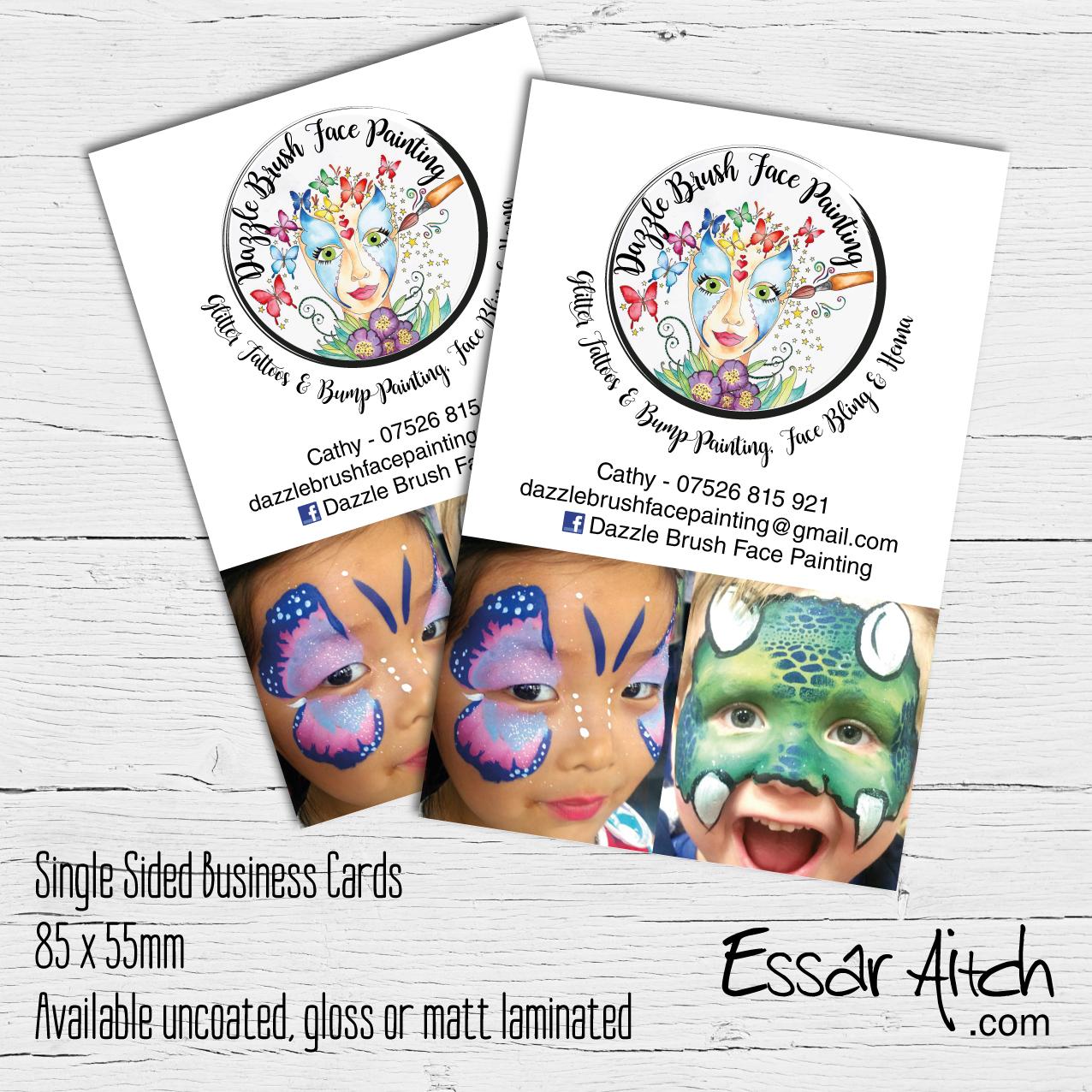 Single Sided Business Cards – Essar Aitch