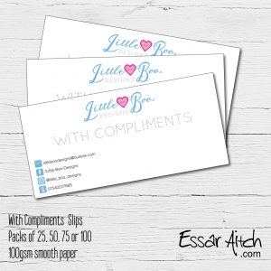 With Compliment Slips