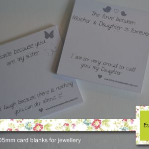 Square/Rectangle Jewellery Cards