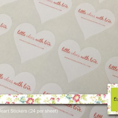 43mm Heart Shaped Stickers