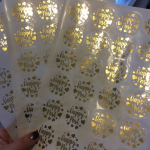 Foiled Clear Stickers
