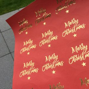 Christmas Foiled Stickers