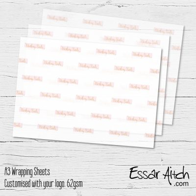 A3 Branded Wrapping Sheets