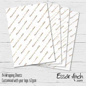 A4 Branded Wrapping Sheets