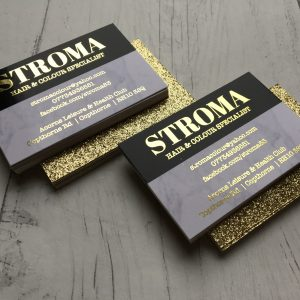 Foil Finish Glitter Business Cards