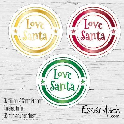Foil Finish Christmas Stickers