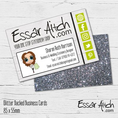 Glitter Backed Business Cards