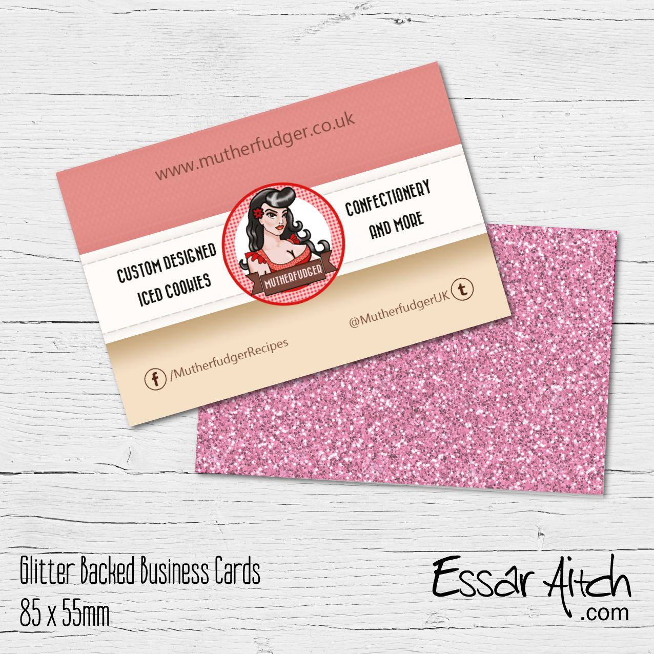 Glitter backed business cards essar aitch glitter backed business cards reheart Choice Image