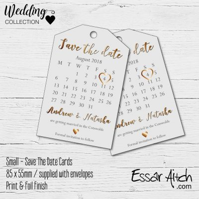 Save The Date Tags – Small