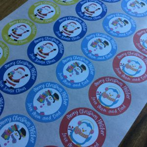Christmas Character Gift Stickers