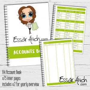 A4 Account Book