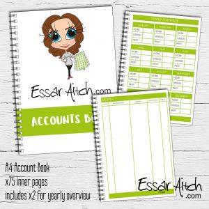 A4 Account Book
