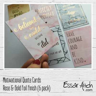 Foil Finish Motivational Quote Cards