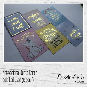 Foil Finish Motivational Quote Cards