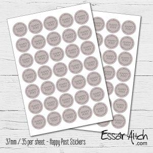 Happy Post Stickers