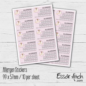 Allergen  Stickers