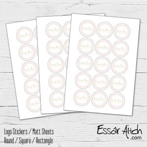 Round  – White Matt Stickers