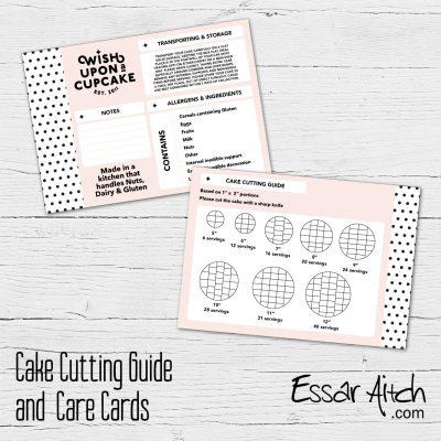 Cake Cutting Guide / Info Cards