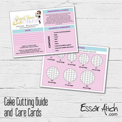 Cake Cutting Guide / Info Cards