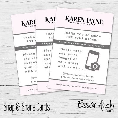 Snap & Share / Tag Us Cards