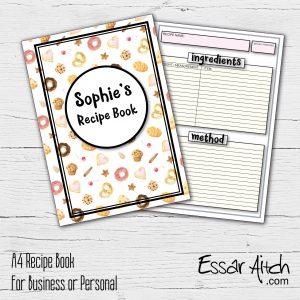 A4 Recipe Book