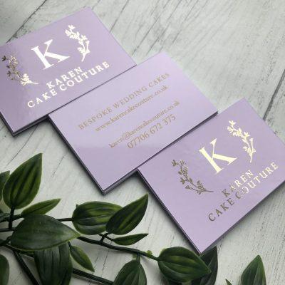 Foil Finish / Print Back Business Cards